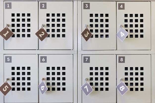 Store. the lockers in which to put your things