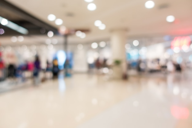 Stores in shopping mall unfocused