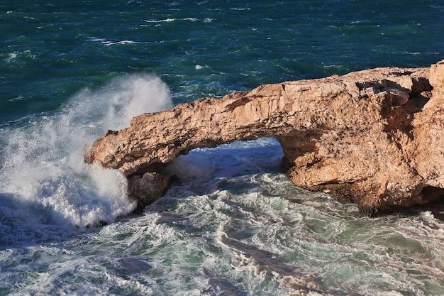 The storm on mediterranean sea, cyprus