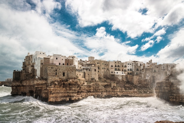 Stormy weather over polignano