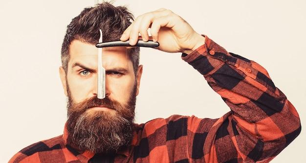 Бритва, парикмахерская, борода. винтажная бритва для парикмахерских