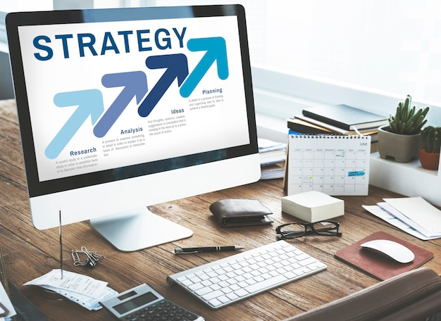 Strategy business planning analysis concept Free Photo