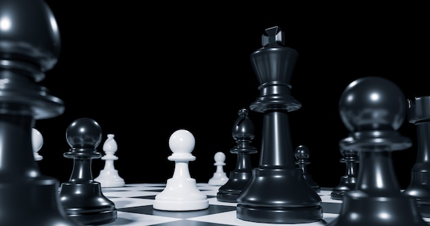 Strategy chess battle intelligence challenge game on chessboard