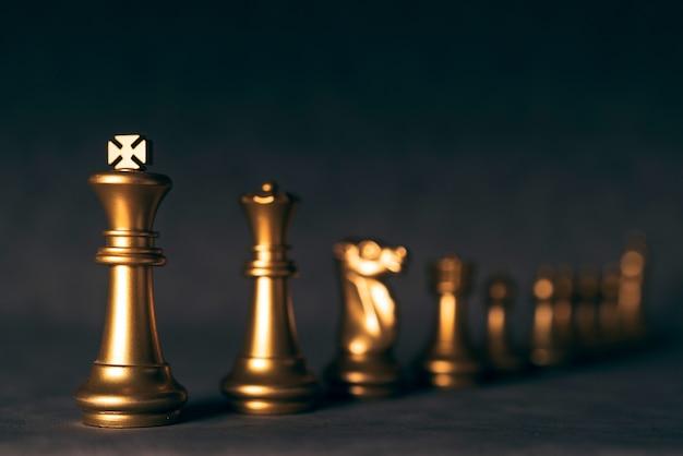 체스 보드 게임 빈티지 컬러 톤으로 전략 경쟁 아이디어 개념