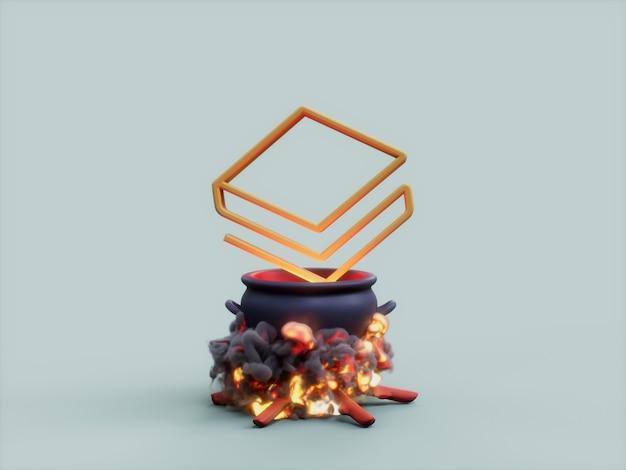 Stratis 가마솥 화재 요리사 암호화 통화 3d 그림 렌더링