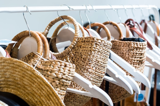15f39340f1c5c Straw bags on sale next to the trembles
