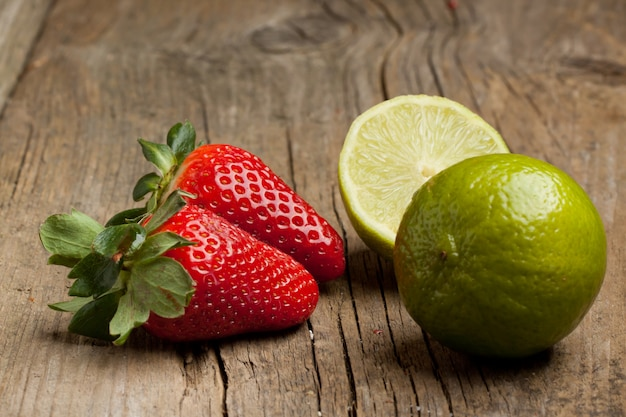 Strawberries and lime