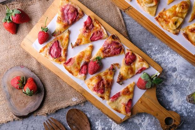 Клубника пицца плоская планировка