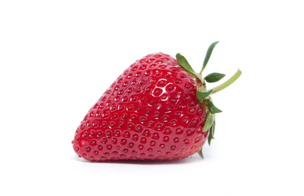 Strawberries on white isolated