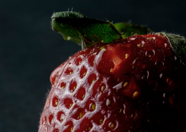 Strawberry on a black background