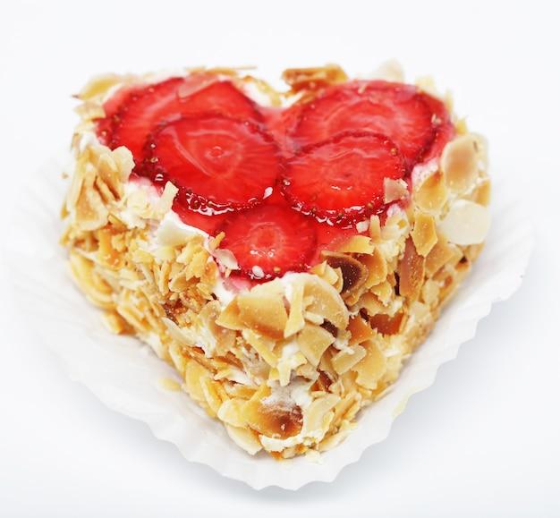 딸기 케이크 클로즈업 사진