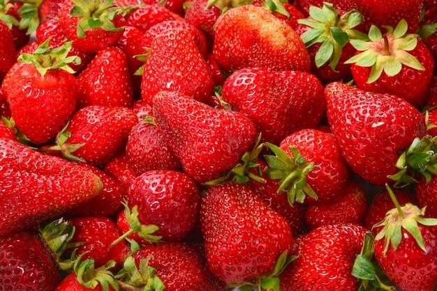 Клубника. макрос свежих ягод.