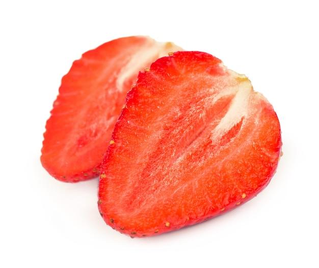 Клубника. свежая ягода, изолированные на белом фоне.