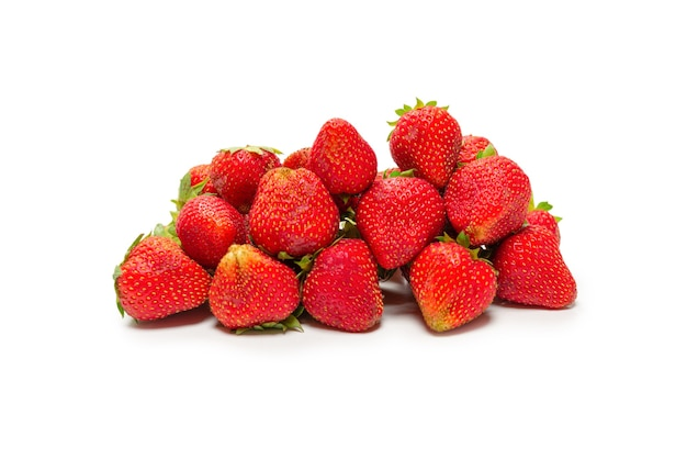 Strawberry. fresh group of berries isolated on a white background.