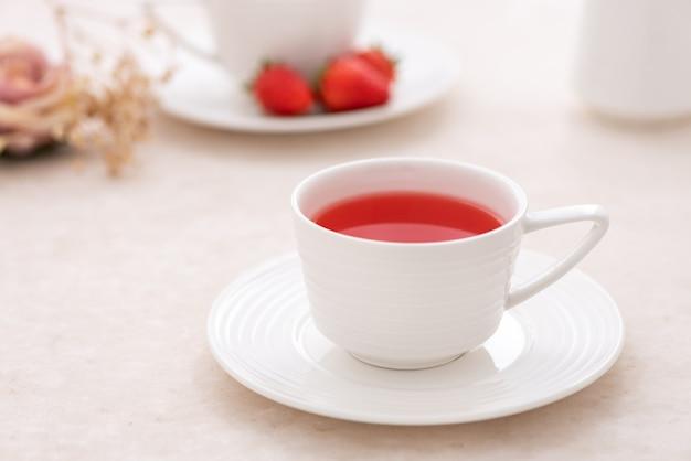 Strawberry fruit tea