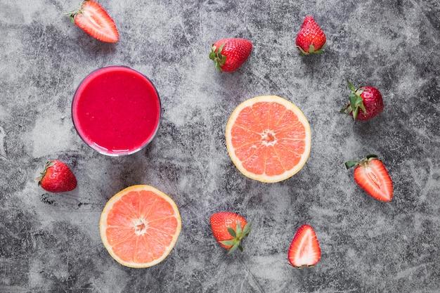 Strawberry and grapefruit smoothie