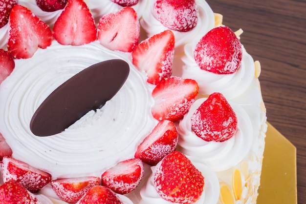Strawberry ice-cream cake
