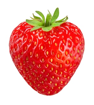 Strawberry isolated on white clipping path