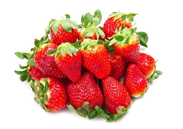 흰색 바탕에 딸기