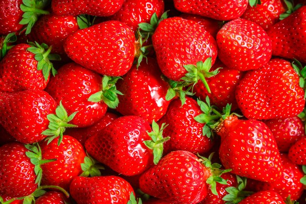 Strawberry ripe and juicy berries