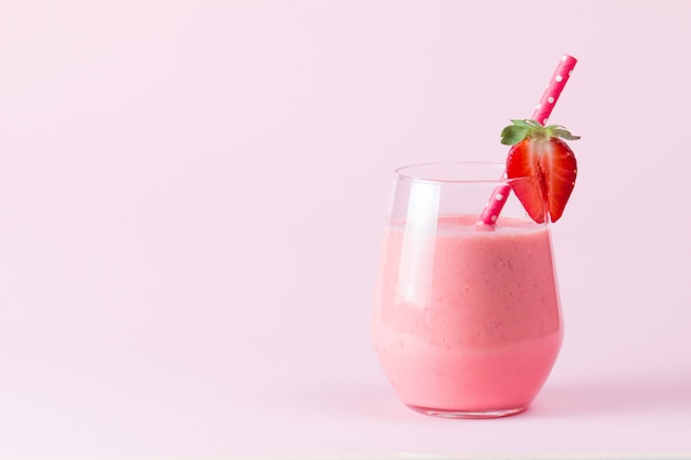 Strawberry smoothie.