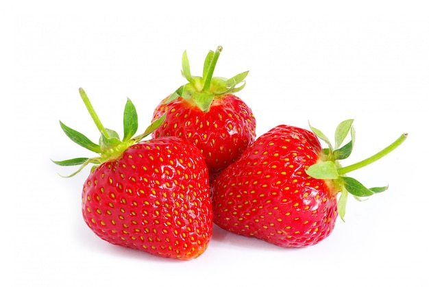 Strawberry on white isolated