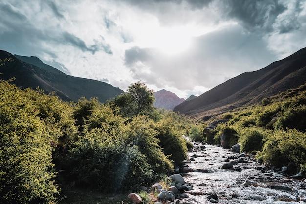 アンデス山脈メンドーサのストリーム