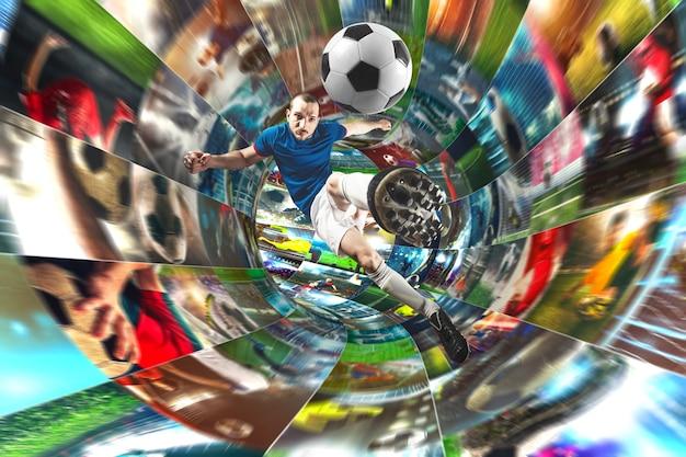 디지털 케이블로 인터넷에서 축구 이미지 스트리밍