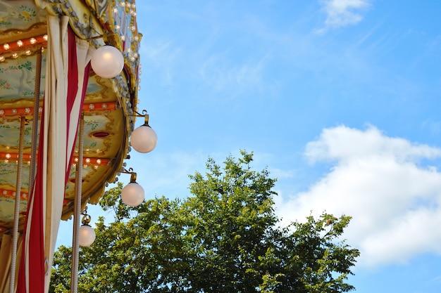 Street beautiful retro carousel