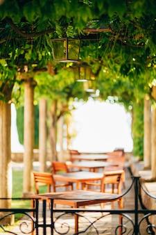 몬테네그로의 거리 카페 카페