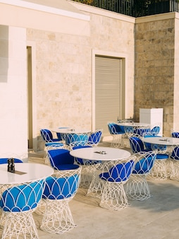 Street cafe cafe in montenegro