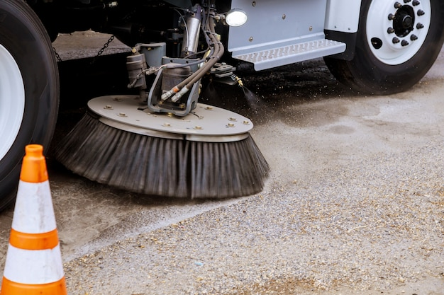 Street cleaning equipment brushes of street cleaning machine