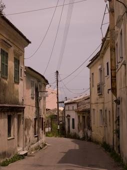 Street in corfu greece