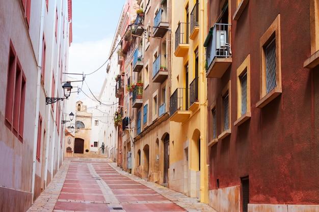 Street of european town. tarragona