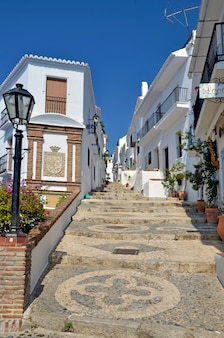 Street in frigiliana andalusia