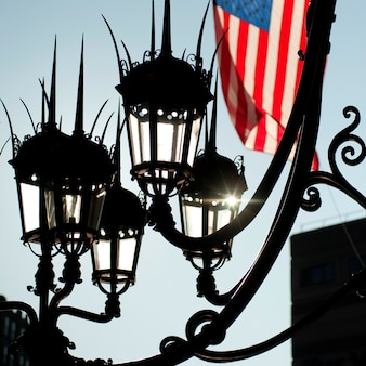 보스턴, 매사추세츠, 미국에서 거리 등불