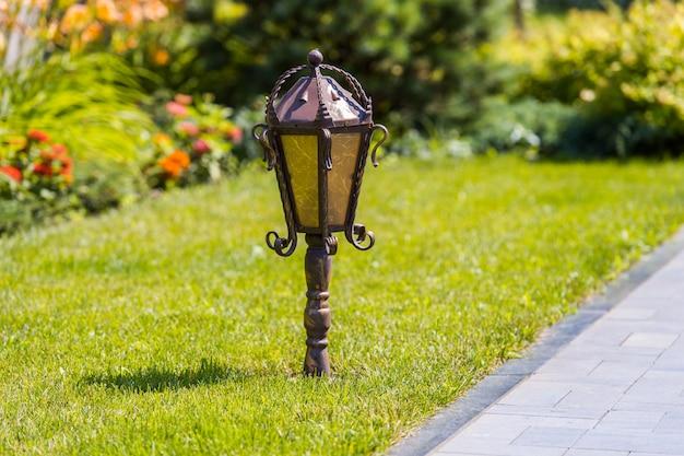 Street light in the garden