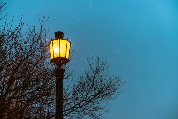 Street light, vintage gothic style with copy space