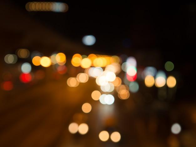 Street lights bokeh background