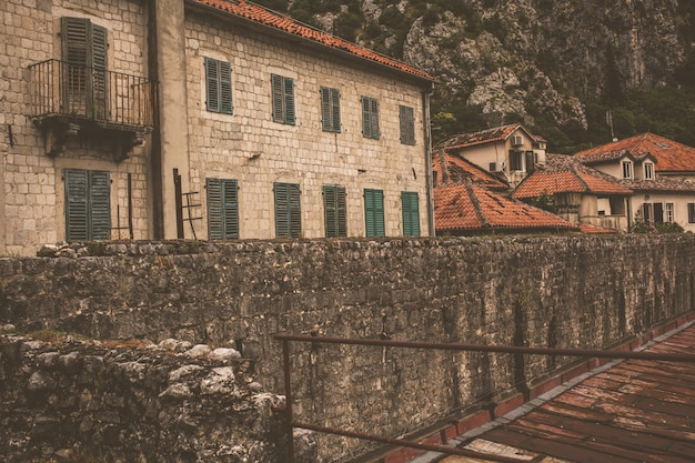 The street of the montenegrin city of kotor