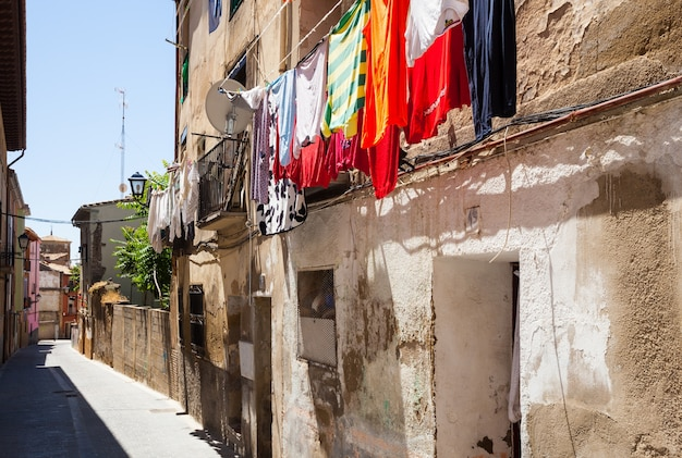 Street of old town. huesca