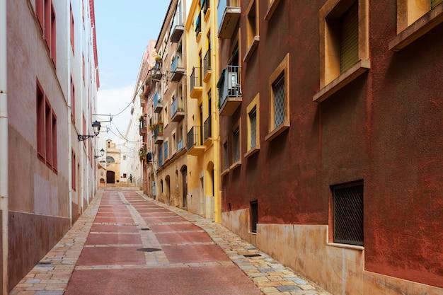 Street of old town. tarragona