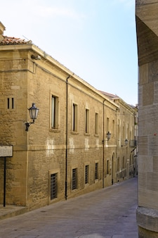 Street in republic of san marino.  italy, europe