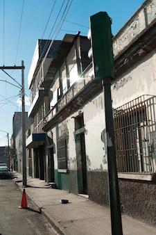 Street scene in a city, zona 1, guatemala city, guatemala