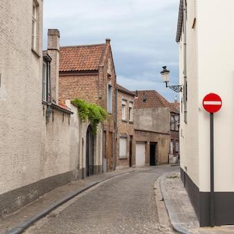 Street scene medieval buildings houses