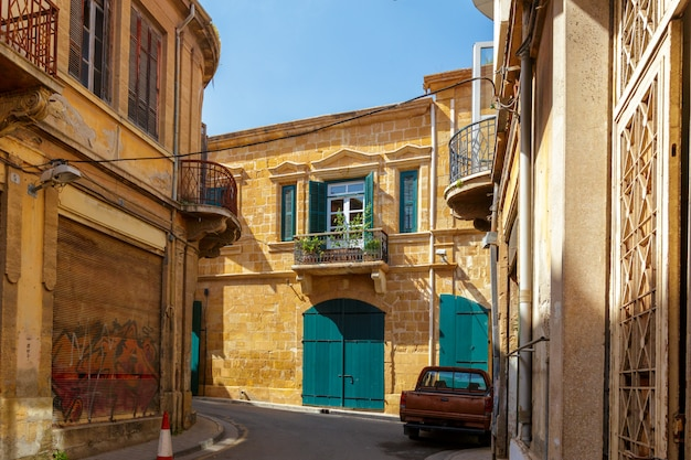 Street scene in an old town in europe