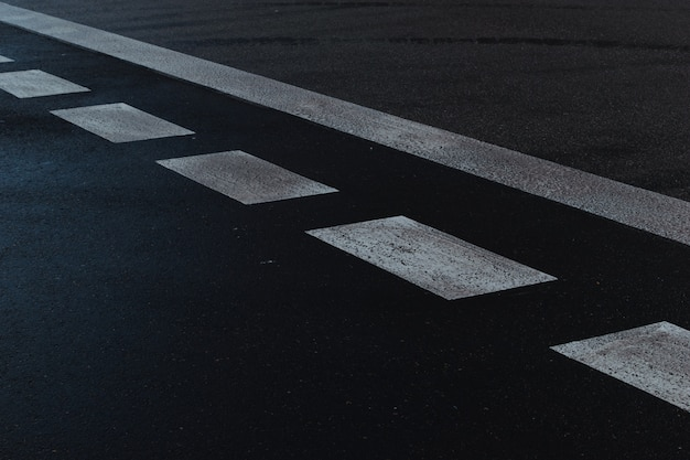Street signals on the road. pedestrian crossing