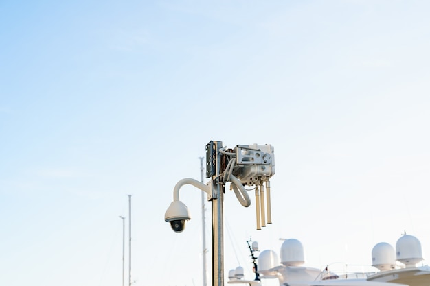 Street surveillance camera and public wifi router