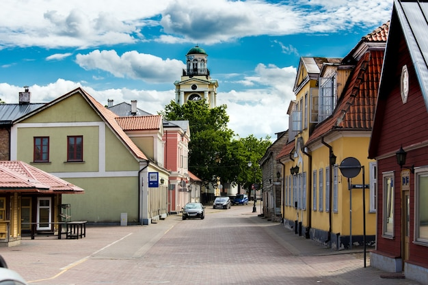 Street of ventspils city, latvia