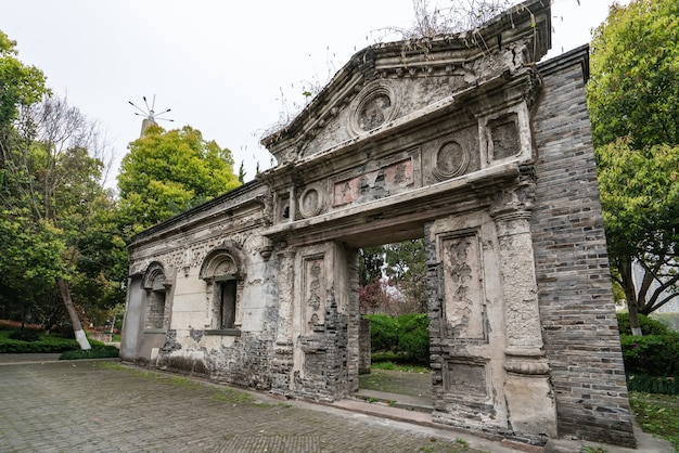 Street view of wenzhou european-style architecture historical site